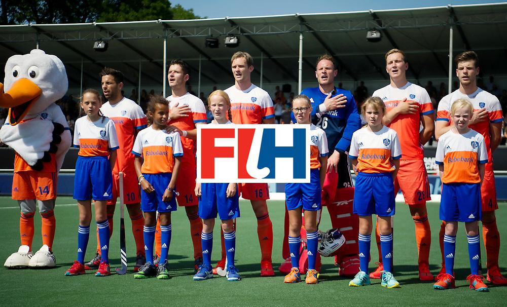 BREDA - Rabobank Hockey Champions Trophy<br /> The Netherlands - India<br /> Photo: Dutch line up.<br /> COPYRIGHT WORLDSPORTPICS FRANK UIJLENBROEK