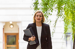 London, September 5th 2017. Home Secretary Amber Rudd attends the first UK cabinet meeting at Downing Street after the summer recess. ©Paul Davey