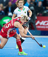 LONDON -  Unibet Eurohockey Championships 2015 in  London.  England v Germany .  Alex Danson scores 2-0 for England.    WSP Copyright  KOEN SUYK