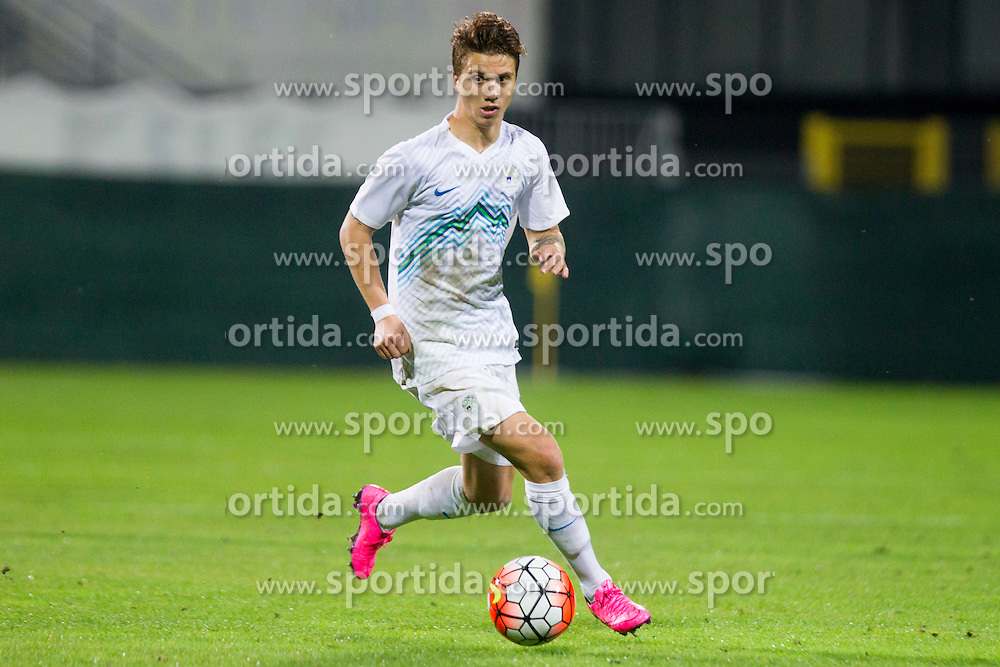 Luka Zahovic #17 of Slovenia during football match between U21 National Teams of Slovenia and Lithuania in 2nd Round of UEFA 2017 European Under-21 Championship Qualification on September 4, 2015 in Arena Petrol, Celje, Slovenia. Photo by Urban Urbanc / Sportida