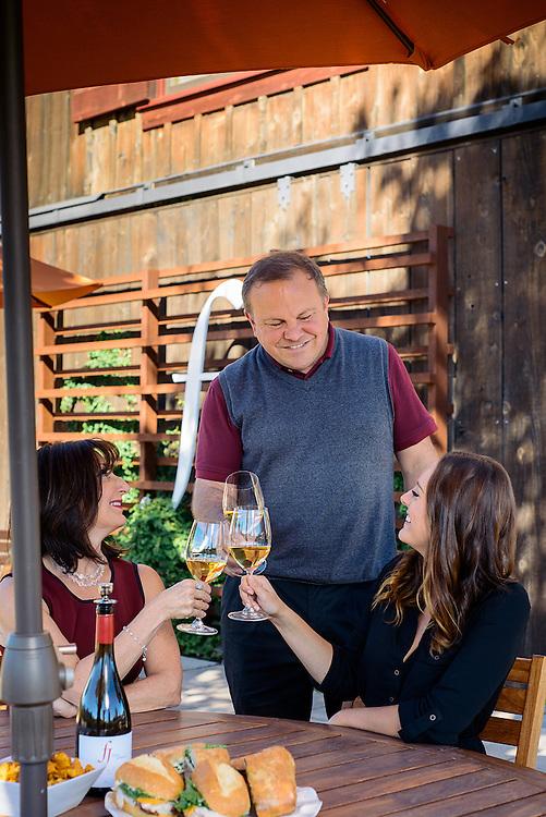 Wine tasting at Foley Johnson Winery