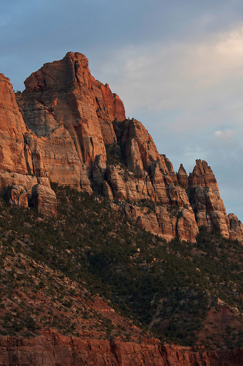 Sandstone cliffs near Zion National Park, Utah