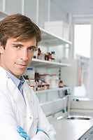 Scientist in laboratory portrait