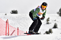 van BEEK Renske, SB-LL2, NED, Banked Slalom at the WPSB_2019 Para Snowboard World Cup, La Molina, Spain