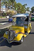 Golf Cart Yellow Custom, Custom, Classic, Unique,