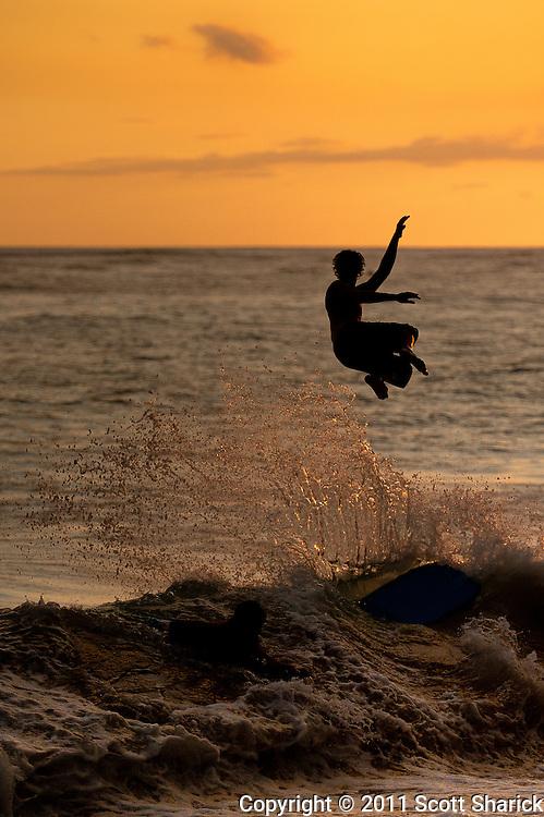 A little sunset fun on Waikiki Beach.