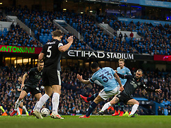 Gabriel Jesus of Manchester City (R) scores his sides first goal - Mandatory by-line: Jack Phillips/JMP - 26/01/2019 - FOOTBALL - Etihad Stadium - Manchester, England - Manchester City v Burnley - Emirates FA Cup