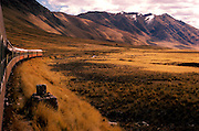 PERU, LAKE TITICACA Altiplano; the famous railroad that climbs  from Cuzco at 11,000' to Puno at 14,000'  on Lake Titicaca