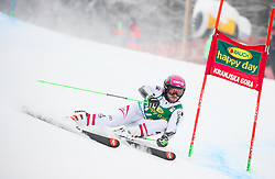 Christian Hirschbuehl of Austria competes during 1st run of Men's GiantSlalom race of FIS Alpine Ski World Cup 57th Vitranc Cup 2018, on March 3, 2018 in Kranjska Gora, Slovenia. Photo by Ziga Zupan / Sportida
