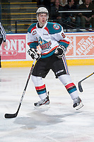 KELOWNA, CANADA - JANUARY 24:  Cole Martin #8 of the Kelowna Rockets skates on the ice against the Seattle Thunderbirds at the Kelowna Rockets on January 24, 2013 at Prospera Place in Kelowna, British Columbia, Canada (Photo by Marissa Baecker/Shoot the Breeze) *** Local Caption ***