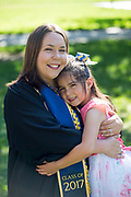 Tiana Khong poses for her graduation portrait at San Jose State University in San Jose, California, on May 23, 2017. (Stan Olszewski/SOSKIphoto)