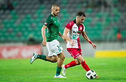Da Silva Coelho Ricardo Alves of NK Olimpija vs Francesco Tahiraj of NK Aluminij during football match between NK Aluminij and NK Olimpija Ljubljana in the Final of Slovenian Football Cup 2017/18, on May 30, 2018 in SRC Stozice, Ljubljana, Slovenia. Photo by Vid Ponikvar / Sportida