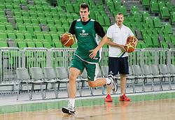Vlatko Cancar and Rado Trifunovic during public training session of Slovenian National Basketball team, on August 1, 2016 in Arena Stozice, Ljubljana, Slovenia. Photo by Vid Ponikvar / Sportida