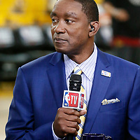OAKLAND, CA - JUN 3: Isiah Thomas is seen prior to Game Two of the 2018 NBA Finals won 122-103 by the Golden State Warriors over the Cleveland Cavaliers at the Oracle Arena on June 3, 2018 in Oakland, California. NOTE TO USER: User expressly acknowledges and agrees that, by downloading and or using this photograph, User is consenting to the terms and conditions of the Getty Images License Agreement. Mandatory Copyright Notice: Copyright 2018 NBAE (Photo by Chris Elise/NBAE via Getty Images)