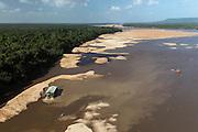 Gold Dredger<br /> Essequibo River<br /> GUYANA<br /> South America<br /> Longest river in Guyana