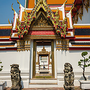 Exterior of temple buildings at Wat Pho temple, Bangkok