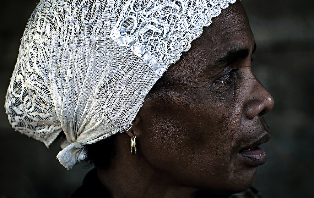A woman dressed for church on Lembata Island, Indonesia.