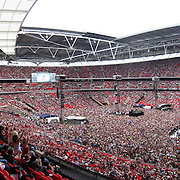 PANORAMIC VIEW OF WEMBLEY SATADIUM AT THE LIVE EARTH CONCERT ON JULY 7TH... .