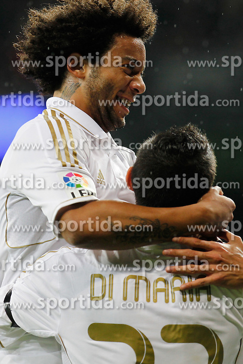 26.10.2011, Estadio Santiago Bernabeu, Madrid, ESP, Primera Division, Real Madrid vs FC Villarreal, im Bild Real Madrid's Angel di Maria goal  // during Primera Division league football match between Real Madrid an FC Villarreal at Santiago Bernabeu Stadium, Madrid, Spain on 26/10/2011. EXPA Pictures © 2011, PhotoCredit: EXPA/ Alterphoto/ Alex Cid-Fuentes  +++++ ATTENTION - OUT OF SPAIN/(ESP) and OUT OF SWISS/(SUI) +++++