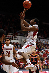 Feb 16, 2012; Stanford CA, USA; Stanford Cardinal guard Chasson Randle (5) shoots against the Oregon State Beavers during the first half at Maples Pavilion.  Mandatory Credit: Jason O. Watson-US PRESSWIRE