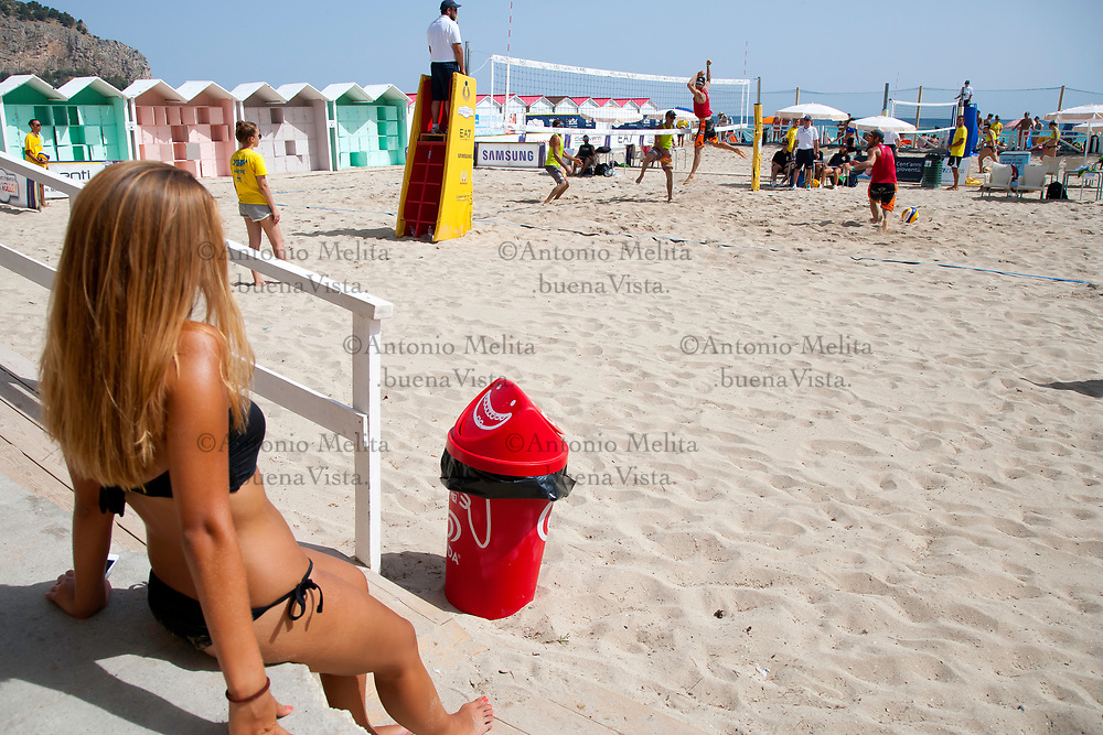 Spiaggia di Mondello (Palermo) - Terza tappa del campionato italiano di beach volley a coppie maschili.