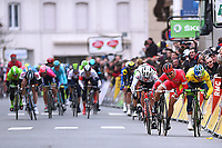 Arrival, MATTHEWS  Michael (AUS) Yellow leaders jersey, BOUHANNI  Nacer (FRA), BONIFAZIO  Niccolo (ITA), during the UCI World Tour,  74th Paris - Nice 2016, Stage 2, Contres - Commentry (213,5Km), in France, on March 8, 2016 - Photo Tim de Waele / DPPI