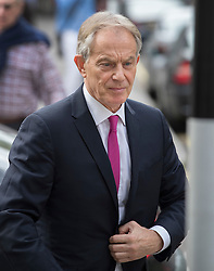 © Licensed to London News Pictures. 07/07/2016. London, UK. Former Prime Minister Tony Blair arrives at his office. Mr Blair has faced criticism after the Iraq Inquiry was finally published yesterday. Photo credit: Peter Macdiarmid/LNP