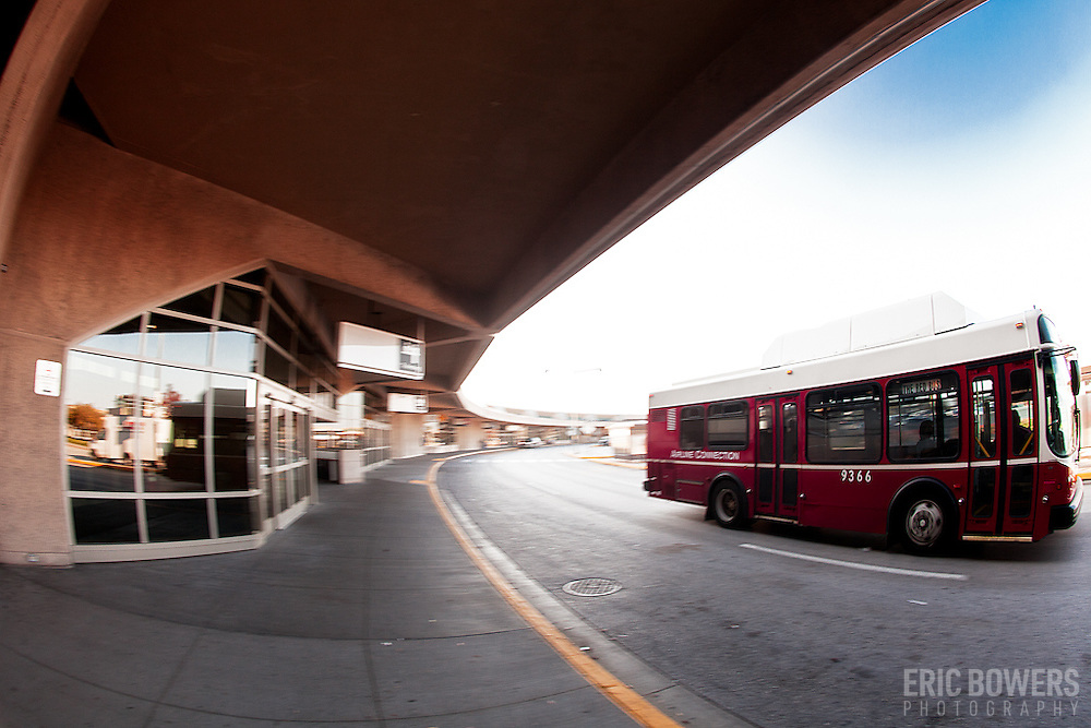 Airport bus at KCI Airport.