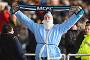 Man City fan during the Premier League match between Hull City and Manchester City at the KCOM Stadium, Kingston upon Hull, England on 26 December 2016. Photo by Ian Lyall.