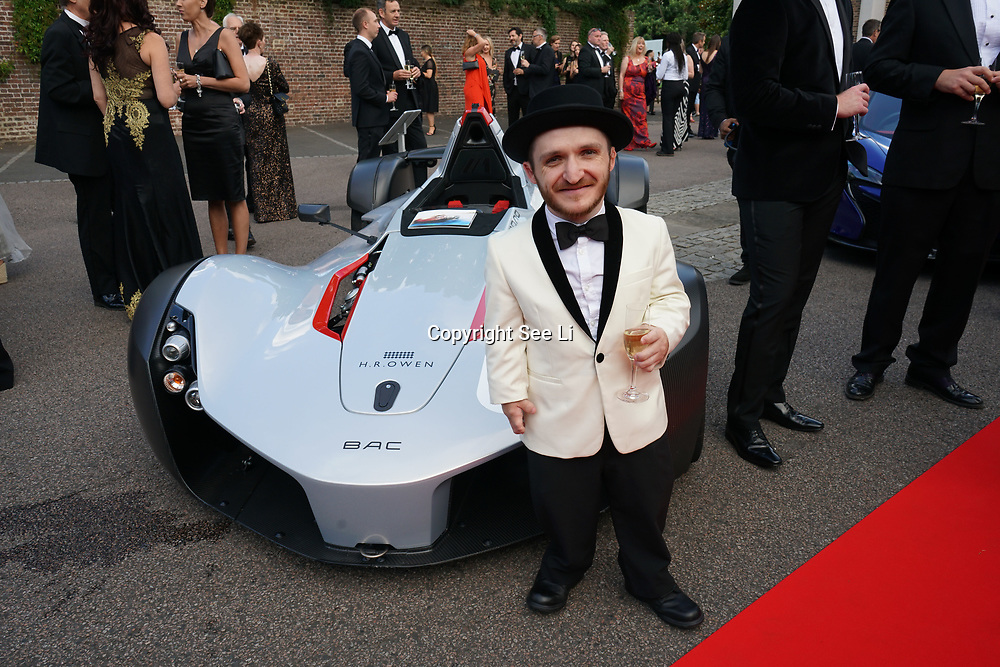 Hurlingham Club ,London, England, UK. 10th July, 2017. Leigh Gill attend The Grand Prix Ball attracted a host of star-studded celebrity guests last night at Hurlingham Club , including Formula 1 drivers as well as iconic Formula 1 cars. Guests mingled with the elite whist being enterained with live performances by award winning UK artists and DJs ahead of the British Grand Prix at Silverstone.