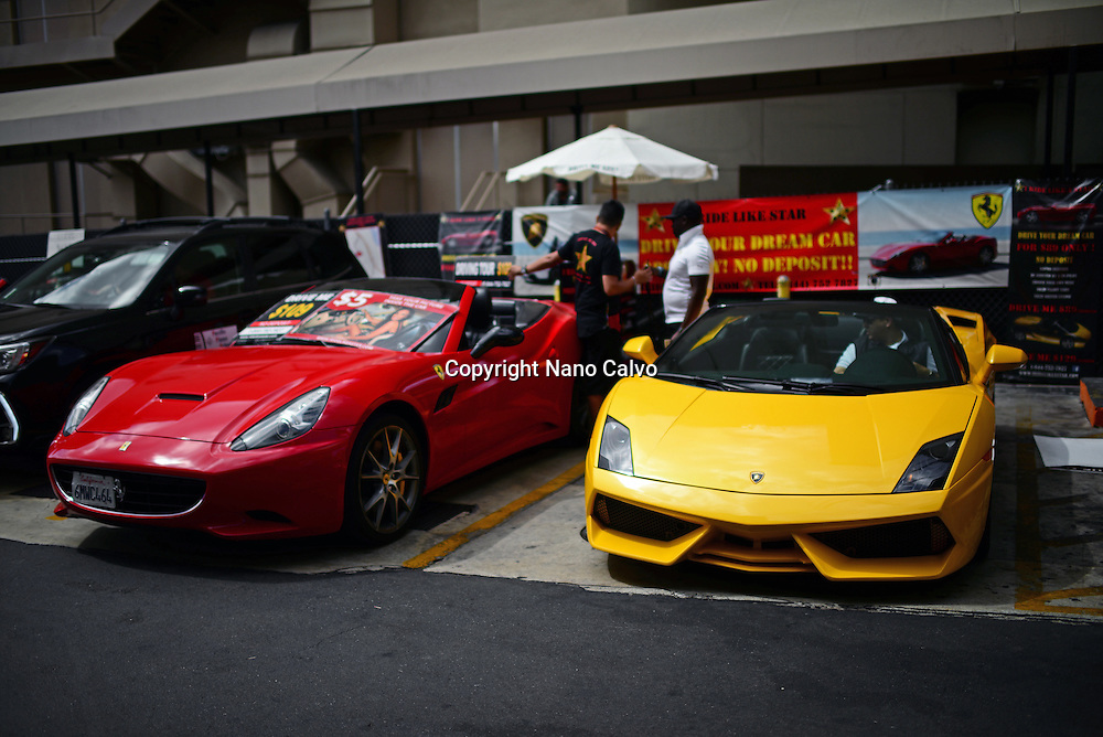Sport cars for rental in Hollywood, Los Angeles, California.