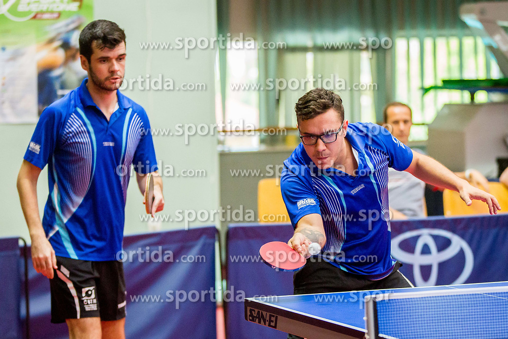 (Team BRA) PEREIRA STROH Israel and SALMIN FILHO Paulo Sergio in action during 15th Slovenia Open - Thermana Lasko 2018 Table Tennis for the Disabled, on May 10, 2018 in Dvorana Tri Lilije, Lasko, Slovenia. Photo by Ziga Zupan / Sportida
