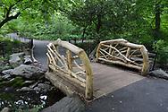 A rustic bridge near Azelea Pond in the Ramble of Central Park