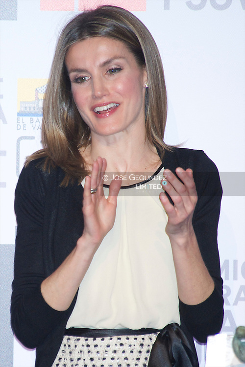 Princess Letizia of Spain attends the Delivery of Awards for Children's Literature 'Barco de Vapor' and 'Gran Angular' at Casa del Reloj in Madrid