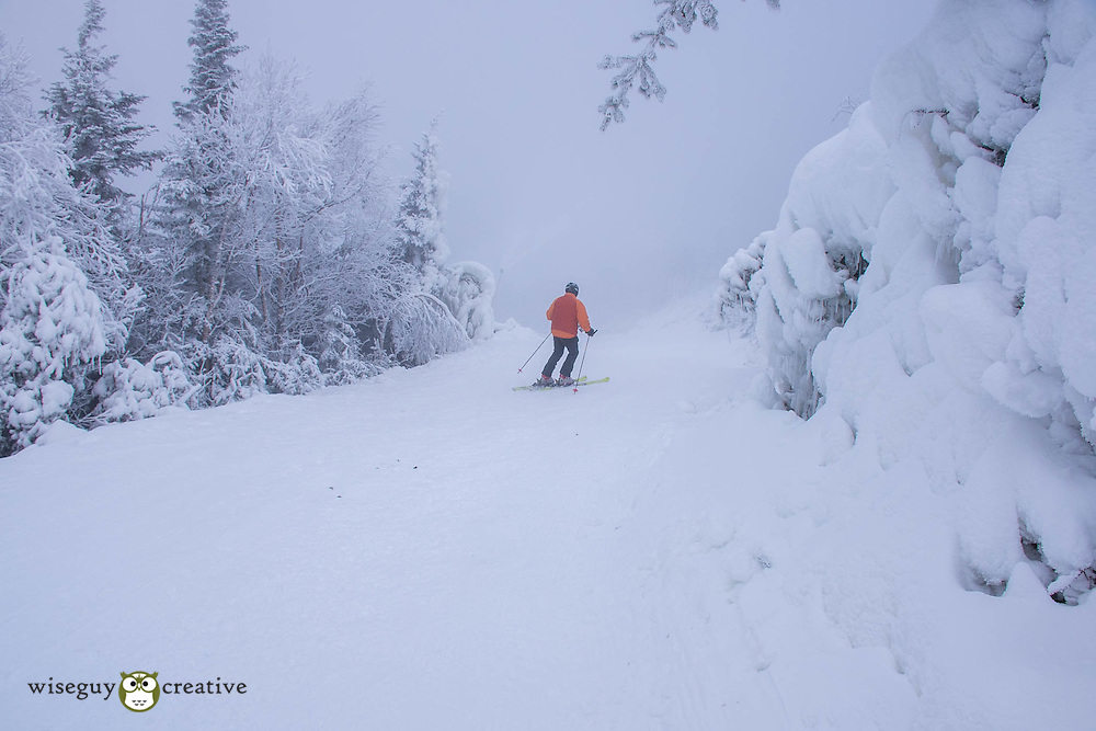 All is white at the summit of Wildcat