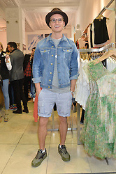 OLIVER PROUDLOCK at a party to celebrate the launch of French Connection's #CANTHELPMYSELFIE -The UK's first in-store interactive selfie booths and windows held at French Connection, 249-251 Regent Street, London on 15th April 2014.
