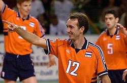 28-07-2000 FRA: Olympisch Kwalificatie Toernooi Nederland - Frankrijk, Castelnau Le Lez<br /> Nederland wint in een beladen duel van Frankrijk en plaatst zich voor de Olympische Spelen in Sydney / Peter Blange