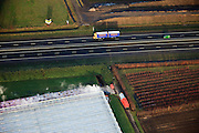 Nederland, Provincie, Plaats, 10-01-2011;.Kassengebied in Venlo naast de A73. Greenhouses next to motorway A73..luchtfoto (toeslag), aerial photo (additional fee required).foto/photo Siebe Swart