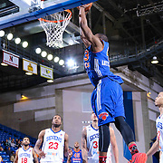 Westchester Knicks Forward Thanasis Antetokounmpo (43) dunks the ball in the second half of a NBA D-league regular season basketball game between the Delaware 87ers and the Westchester Knicks (New York Knicks) Wednesday, Feb. 17, 2015 at The Bob Carpenter Sports Convocation Center in Newark, DEL