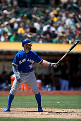 OAKLAND, CA - JULY 23:  Kevin Pillar #11 of the Toronto Blue Jays at bat against the Oakland Athletics during the ninth inning at O.co Coliseum on July 23, 2015 in Oakland, California. The Toronto Blue Jays defeated the Oakland Athletics 5-2. (Photo by Jason O. Watson/Getty Images) *** Local Caption *** Kevin Pillar