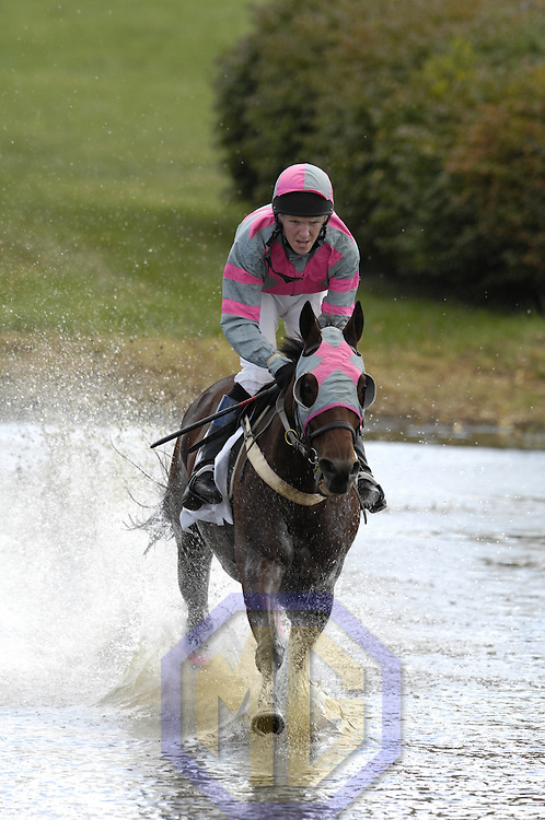 20 October 2007:  Berani with Will Haynes up spalsh through Swan Lake in the $25,000 Moriah Farm Steeplethon during the 70th running of the International Gold Cup Races on October 20, 2007 at the Great Meadow in The Plains, Va.  The race was won by Bon Fleur (1) ridden by Jeff Murphy with Western Fling (2) ridden by Carl Rafter and Berani (4) with Will Haynes aboard finishing 2nd and 3rd.
