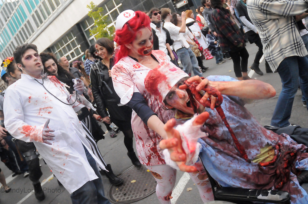 Zombies take the streets of Montreal in the 2nd edition of the 2012 MTL Zombie Walk. (Cult MTL)