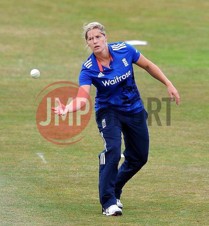 England's Katherine Brunt - Photo mandatory by-line: Harry Trump/JMP - Mobile: 07966 386802 - 21/07/15 - SPORT - CRICKET - Women's Ashes - Royal London ODI - England Women v Australia Women - The County Ground, Taunton, England.