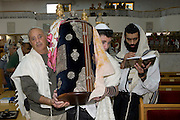 Israel, Tel Aviv, Beit Daniel, Tel Aviv's first Reform Synagogue The Torah scroll removed from the ark