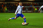 Walsall FC defender Jason Demetriou during the Sky Bet League 1 match between Fleetwood Town and Walsall at the Highbury Stadium, Fleetwood, England on 15 March 2016. Photo by Pete Burns.