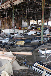 26th Sept, 2005. Cameron, Louisiana. Hurricane Rita aftermath.  The destroyed remains of a downtown business in Cameron, Louisiana two days after the storm ravaged the small town.<br /> Photo; ©Charlie Varley/varleypix.com