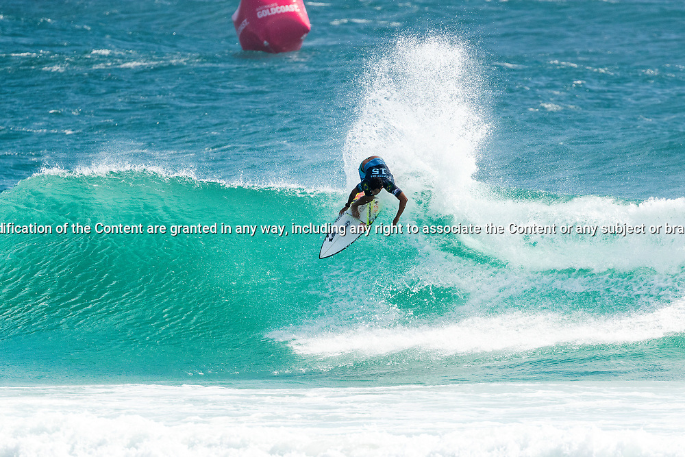 Italo Ferreira (BRA) is eliminated from the Quiksilver Pro Gold Coast after placing second in Heat 4 of Round 3 at Snapper Rocks, Gold Coast, QLD, Australia. . FOR EDITORIAL NEWS USE ONLY