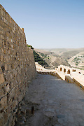 Middle East, Hashemite Kingdom of Jordan, Karak Governorate, the city of Al Karak in centre Jordan. The Karak Crusader Castle built in 1140 Raynald of Chatillon gained possession of Kerak in 1176. The fortified walls