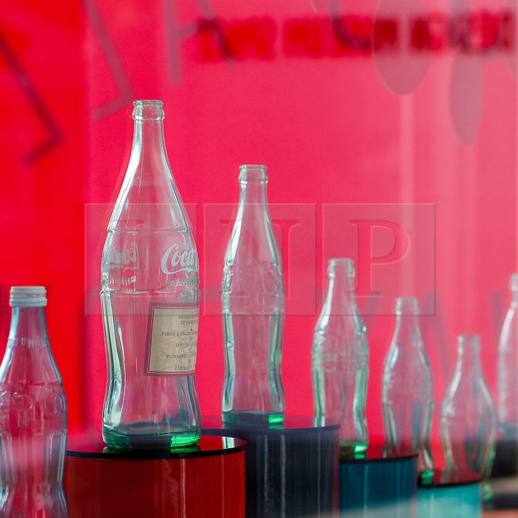 © Licensed to London News Pictures.  20/05/2011. London, UK. Coca-Cola launches a free installation at the Design Museum Tank  showcasing a selection of the brand's memorable past designs, marking its 125th anniversary. See special instructions for rates. Photo credit should read Bettina Strenske/LNP