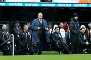 Newcastle United manager Rafael Benitez looks on from teh side line during the Premier League match between Newcastle United and Huddersfield Town at St. James's Park, Newcastle, England on 31 March 2018. Picture by Craig Doyle.